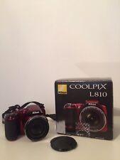Nikon Coolpix L810 16.1MP Digital Red Camera