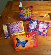 Hand Picked Imports Art Cards Set of 4  Prints from Dubbo artist Sue Hend
