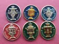 Vintage Soviet Pin Badges Set of Russian samovars,USSR