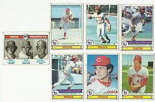VINTAGE 1979 TOPPS BASEBALL CARDS – CINCINNATI REDS – MLB