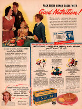 1942 B AD  NUCOA MARGARINE DIETICIAN HAPPY FAMILY WWII