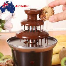 3-Tier Chocolate Fondue Fountain Machine Waterfall Melting Stainless Steel