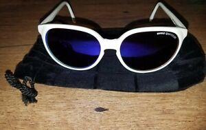 Vtg Uvex Sportstyle Sunglasses #63 White Frame Amber Lenses original bag
