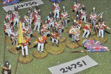 25mm napoleonic / british - regiment 24 figures - inf (24751)