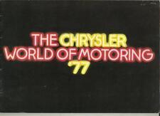 """CHRYSLER UK Avenger Alpine Hunter 180/""""LITRO OPUSCOLO 1977"""
