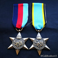 Ww2 British Military Medals 1939 - 1945 Star & Air Crew Europe Star Commonwealth