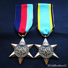 WW2 BRITISH MILITARY MEDALS 1939 - 1945 STAR & AIR CREW EUROPE STAR REPRO..