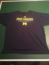 Michigan Football Wolverines t-shirt Adidas Xxl Navy Blue Yellow Maze