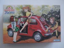 Gunze Sangyo, Fiat 500 mit 3 Figuren !!!, SEHR RAR,  MB, Size 1:24,  Revell, AMT