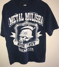 Metal Mullisha  Ride Fast Blue Large T Shirt