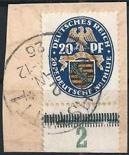 Nothilfe MiNr. 377 vom Unterrand von Feld 92 auf Briefstück