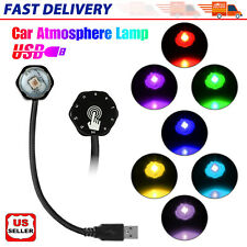 Usb Rgb Led Car Interior Roof Light Touch Key Atmosphere Ambient Star Night Lamp