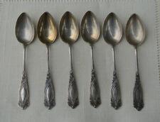 6 Jugendstil Mokkalöffel / Espressolöffel 800 Silber Franz Bahner