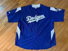 MLB Los Angeles Dodgers Majestic Button Up Team Shirt/Jersey 2XL