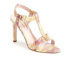 SJP BY SARAH JESSICA PARKER Jo T-Strap Yellow Women's Sandal Size 38 EU 1110
