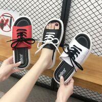 Women Slipper Summer Sandal Lace On Beach Korea Slip On Fashion Shoes Lm14