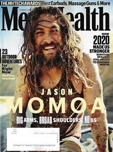 Men's Health Magazine December 2020 JASON MOMOA Cover
