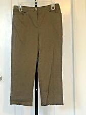 Tribal Capri Pants - Black - CottonSpandex - Size 6