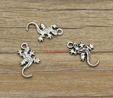 30pcs Gecko Charms Lizard Desert Charms Antique Silver Tone 22x12mm 1190