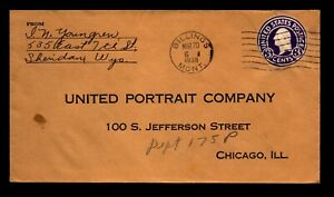 1936 Billings Montana Illegal Cut Out Used As Postage - L30357