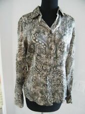 DISMERO md ITALY SZ MED UNIQUE  LOVELY GREY PAISLEY FRONT , SOLID GREY BACK