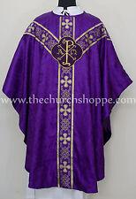 Chasuble purple gothic vestment and mass & stole set,casula,casel,casulla