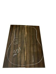 DREADNOUGHT Ziricote Guitar Back/OM, Top Set Luthier Tonewood Book Match #201