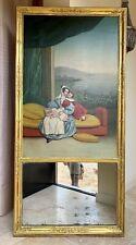 Grand Miroir TRUMEAU D'EPOQUE RESTAURATION XIXe en bois doré
