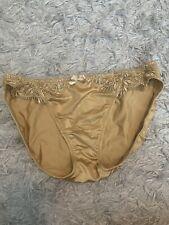 Soma Limited Opulence Satin Bikini Panties Gold Sz M