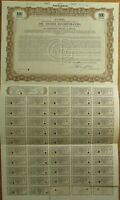 'Oil Shares Incorporated' Giant 1929 SPECIMEN UK Stock/Bond Certificate - Brown