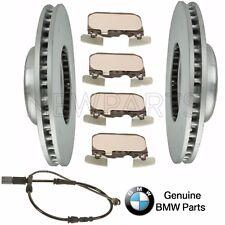 BMW F22 F23 F30 F34 F32 Front Vented Brake Rotors with Pads & Sensor Kit Genuine