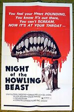"""""""NIGHT of the HOWLING BEAST"""" be on the lookout for BIG FOOT - Movie poster"""