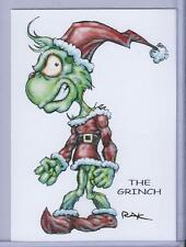 THE GRINCH TRADING CARD ART by RAK ** DR. SEUSS ** CHRISTMAS ** HAND SIGNED NM