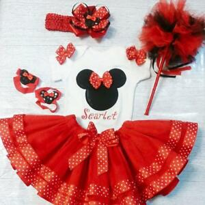 Minnie Mouse Skirt Set with Headband and wand