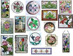 Dollhouse Miniature 1:12 Stained Glass Windows Clear Vinyl Stickers