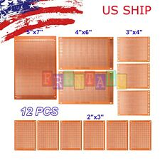 12pc DIY Prototyping Board PCB Printed Circuit Prototype Breadboard Stripboard