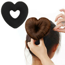 1 pc Useful Hair Updo Wrap Fold Snap Bun Maker Hair Magic Heart Shape Tool