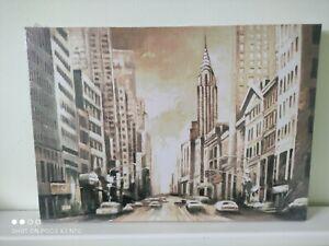 City canvas, monochrome,new