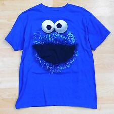 Cookie Monster Tshirt Blue Cotton Sesame Street Tee Shirt Short Sleeve Men's M