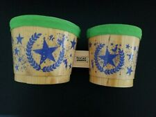 First Act Discovery Kids Childrens Bongo Drums Wooden Instrument