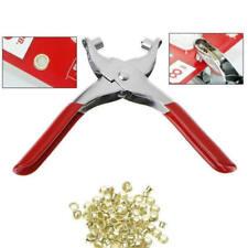 Eyelet Grommet Plier Hole Punch Leather Fabric Canvas Setter Repairing Kit xvc
