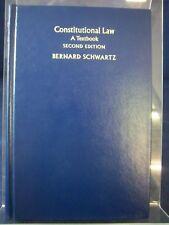 Constitutional Law: A Textbook (2nd edition/1979) by Bernard Schwartz HB 180515
