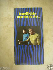 STAR TREK 1976 GREETING CARD BIRTHDAY PUNCH OUT PHASER CAPT KIRK
