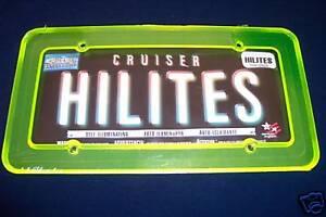 Cruiser HILITES License Plate Frame Green