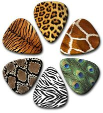 6 Animal Skin ~ Guitar Picks ~ Plectrums ~Plectra