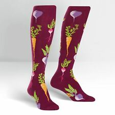 Sock It To Me Women's Knee High Socks - Turnip the Beet