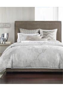 Hotel Collection Interlattice Queen  Duvet Cover Silver