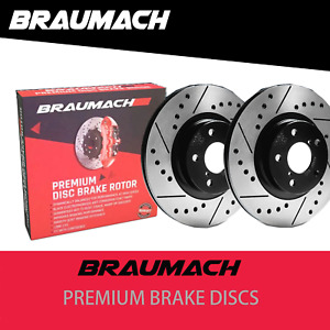 Front and Rear Disc Brake Rotors Drilled for Holden Commodore VE Sedan 6.0 i V8