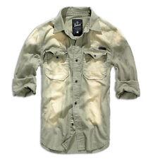 Camicie casual e maglie da uomo a manica lunga in cotone grigio