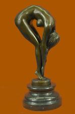 BRONZE NUDE WOMAN Girl Model Erotic sculpture CLOSEOUT ART statue Marble Figure